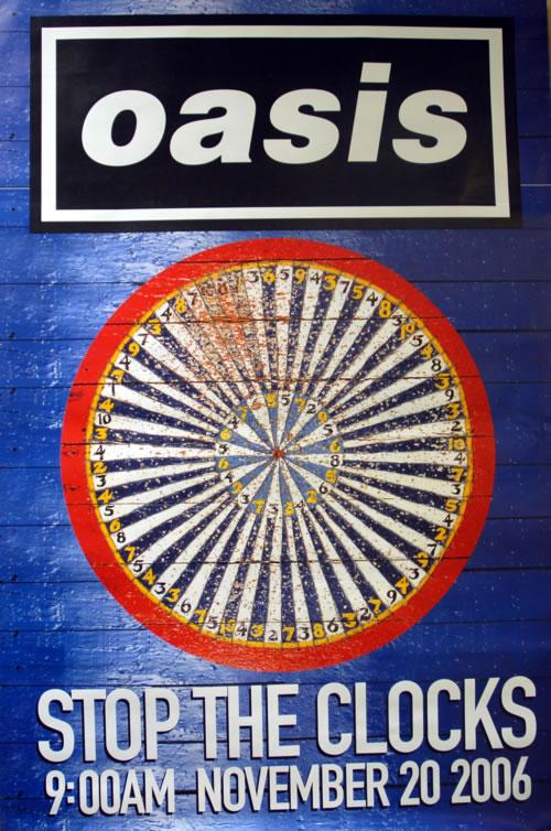 Oasis Stop The Clocks - Dartboard poster UK OASPOST617939