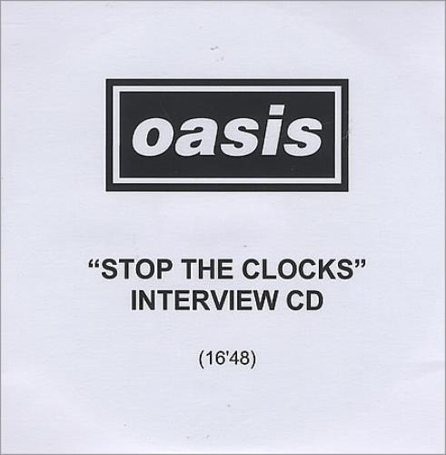 Oasis Stop The Clocks - Interview CD CD-R acetate UK OASCRST387652