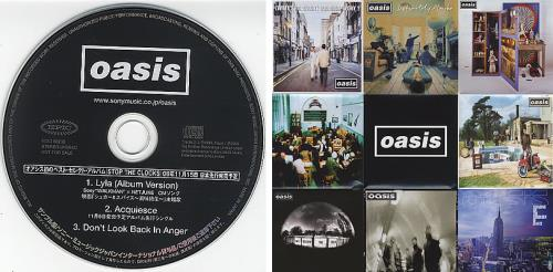 """Oasis 'Stop The Clocks' Album Sampler + Poster Insert CD single (CD5 / 5"""") Japanese OASC5ST385528"""