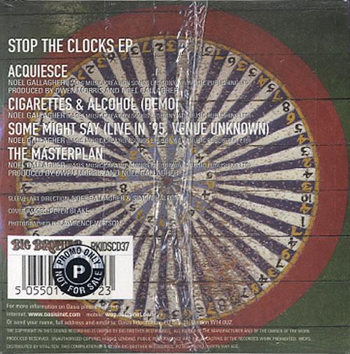 "Oasis Stop The Clocks EP CD single (CD5 / 5"") UK OASC5ST385710"