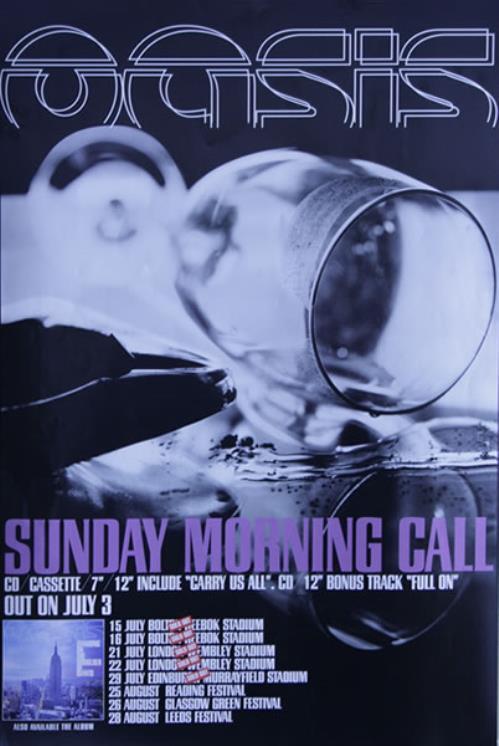 Oasis Sunday Morning Call poster UK OASPOSU527854
