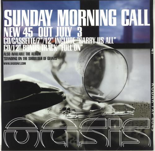 Oasis Sunday Morning Call poster UK OASPOSU696316