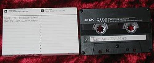 Oasis Take Me Demo Tape cassette single UK OASCSTA322131