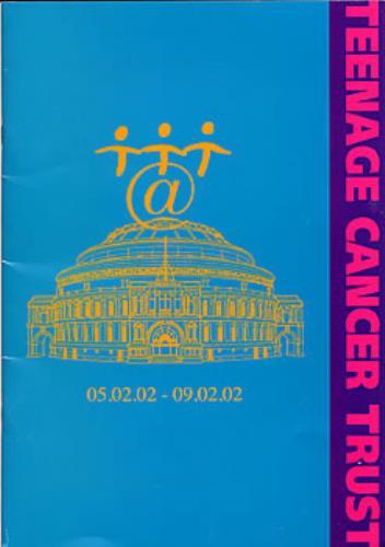Oasis Teenage Cancer Trust tour programme UK OASTRTE287902