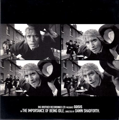 Oasis The Importance Of Being Idle promo DVD-R UK OASDRTH669537
