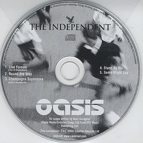 """Oasis The Independent CD single (CD5 / 5"""") UK OASC5TH198361"""