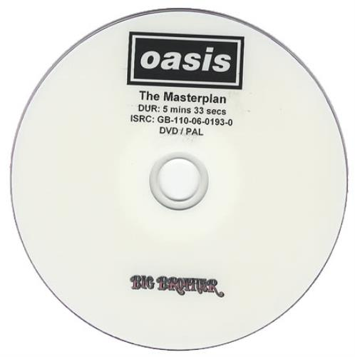 Oasis The Masterplan promo DVD-R UK OASDRTH380896