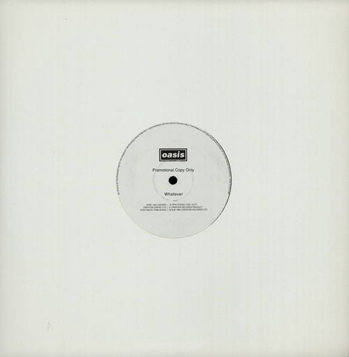 """Oasis Whatever - 1 Sided 12"""" vinyl single (12 inch record / Maxi-single) UK OAS12WH42454"""