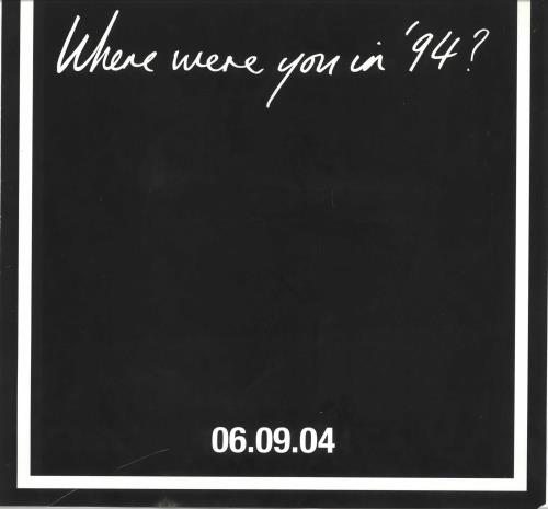 Oasis Where Were You In '94 ? poster UK OASPOWH455767