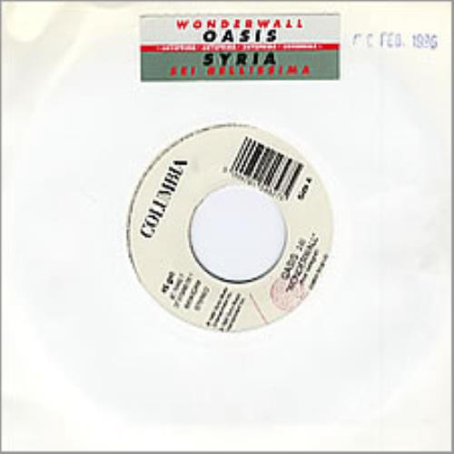 "Oasis Wonderwall - Italian Jukebox 7"" 7"" vinyl single (7 inch record) Italian OAS07WO283018"