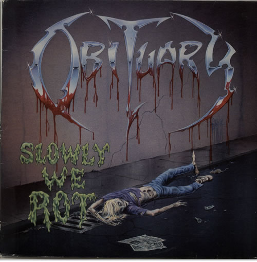 Obituary Slowly We Rot vinyl LP album (LP record) Dutch OB1LPSL637536