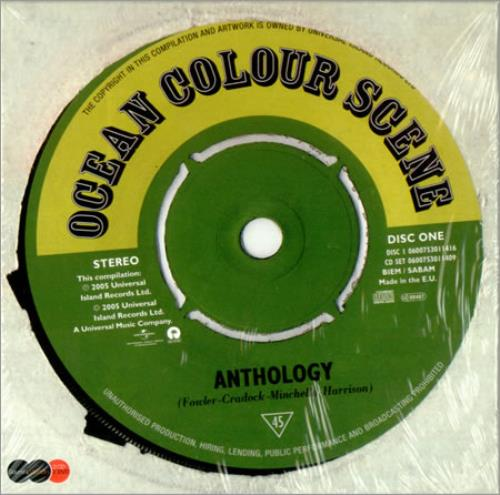 Ocean Colour Scene Anthology: The Best Of - Deluxe Sound & Vision 3-disc CD/DVD Set UK OCS3DAN322261