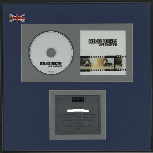 Ocean Colour Scene North Atlantic Drift award disc UK OCSAWNO608253