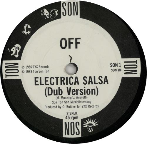 "Off Electrica Salsa (Baba Baba) 7"" vinyl single (7 inch record) UK O-F07EL650569"