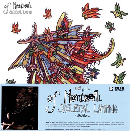Perfect Of Montreal Skeletal Lamping   180gm Sealed + Wall Decal Set Vinyl LP Album  (LP