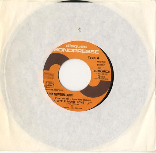 "Olivia Newton John A Little More Love - Jukebox Issue 7"" vinyl single (7 inch record) French ONJ07AL44894"