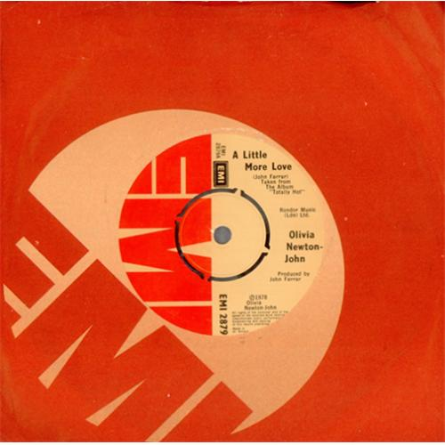 "Olivia Newton John A Little More Love 7"" vinyl single (7 inch record) UK ONJ07AL415003"