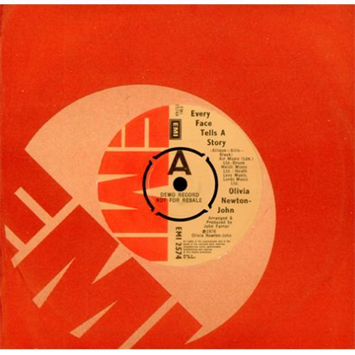 "Olivia Newton John Every Face Tells A Story 7"" vinyl single (7 inch record) UK ONJ07EV08594"