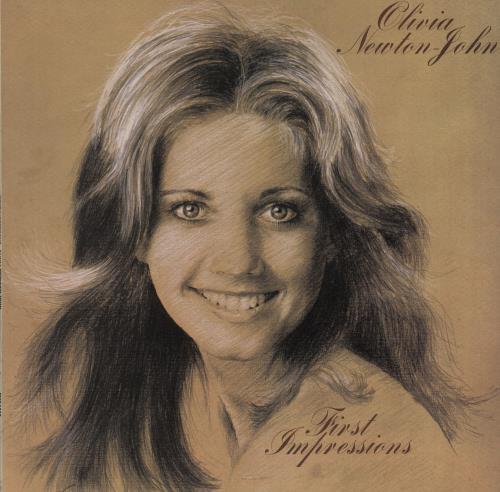 Olivia Newton John First Impressions - blue & tan label vinyl LP album (LP record) UK ONJLPFI194330