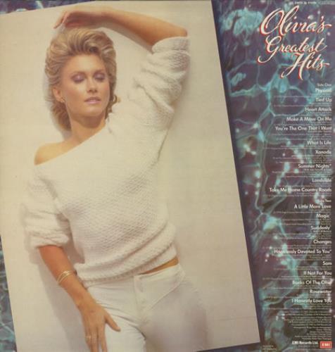 Olivia Newton John Greatest Hits vinyl LP album (LP record) UK ONJLPGR122904