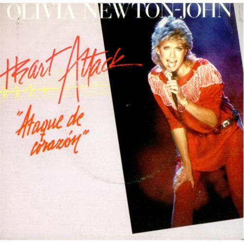 "Olivia Newton John Heart Attack - Ataque De Corazon 7"" vinyl single (7 inch record) Spanish ONJ07HE44895"