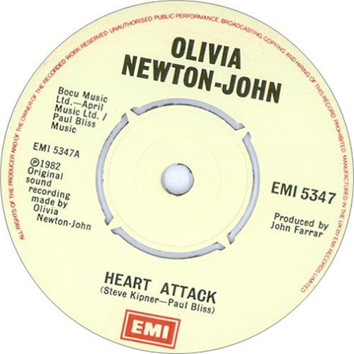 "Olivia Newton John Heart Attack 7"" vinyl single (7 inch record) UK ONJ07HE415231"