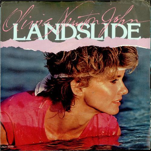 "Olivia Newton John Landslide 7"" vinyl single (7 inch record) UK ONJ07LA45350"