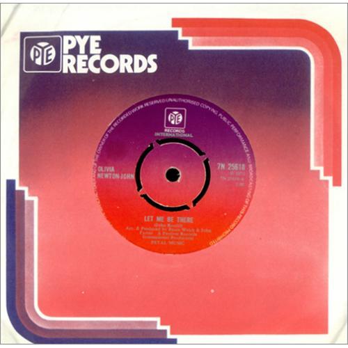 """Olivia Newton John Let Me Be There 7"""" vinyl single (7 inch record) UK ONJ07LE414977"""