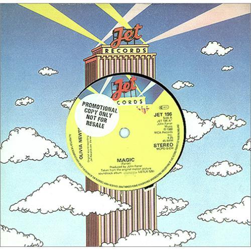 "Olivia Newton John Magic - Promo Stickered 7"" vinyl single (7 inch record) UK ONJ07MA415237"