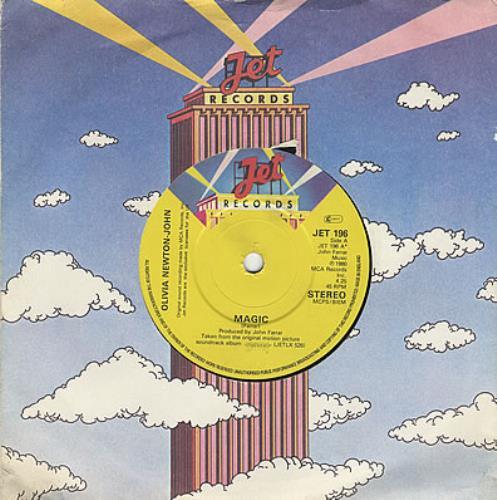 "Olivia Newton John Magic 7"" vinyl single (7 inch record) UK ONJ07MA386085"
