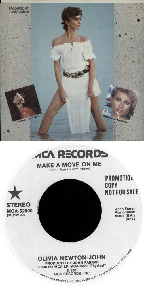"Olivia Newton John Make A Move On Me - Picture Sleeve 7"" vinyl single (7 inch record) US ONJ07MA71525"