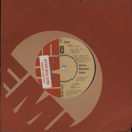 "Olivia Newton John Sam - Factory Sample 7"" vinyl single (7 inch record) UK ONJ07SA415211"