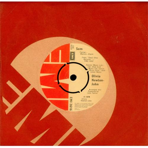"Olivia Newton John Sam 7"" vinyl single (7 inch record) UK ONJ07SA414933"