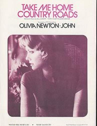Olivia Newton John Take Me Home Country Roads - Pink sheet music UK ONJSMTA162479