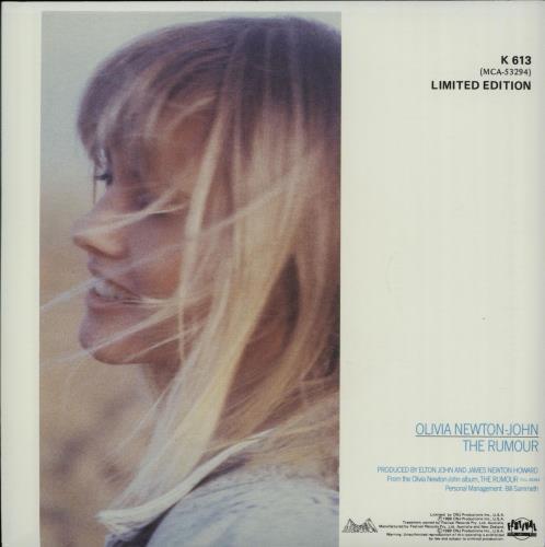 "Olivia Newton John The Rumour 7"" vinyl single (7 inch record) Australian ONJ07TH26820"