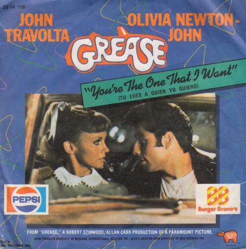 "Olivia Newton John Tu Eres A Quien Yo Quiero - 2nd Sleeve Variant 7"" vinyl single (7 inch record) Spanish ONJ07TU648887"