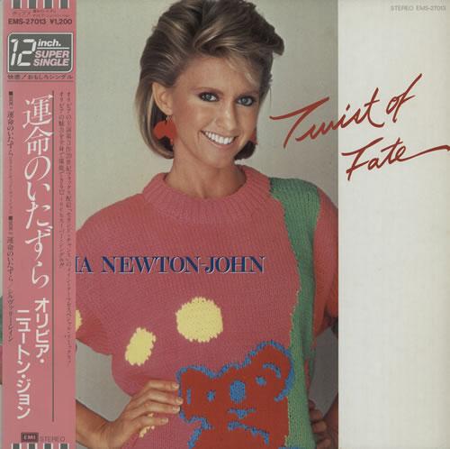 "Olivia Newton John Twist Of Fate 12"" vinyl single (12 inch record / Maxi-single) Japanese ONJ12TW117948"