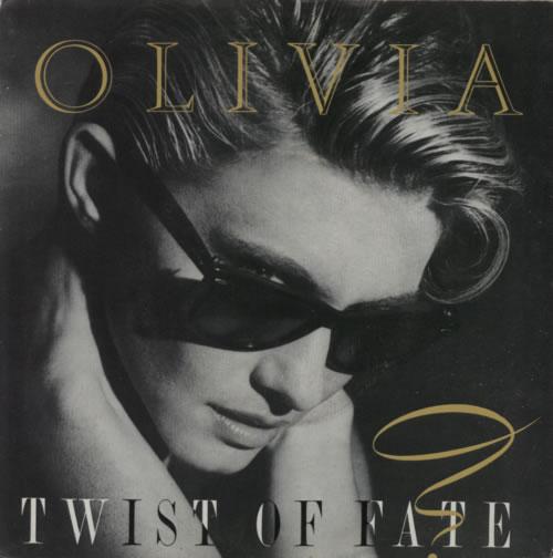 "Olivia Newton John Twist Of Fate 7"" vinyl single (7 inch record) Portugese ONJ07TW617326"