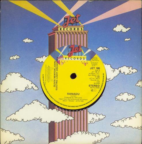 """Olivia Newton John Xanadu 7"""" vinyl single (7 inch record) UK ONJ07XA415241"""