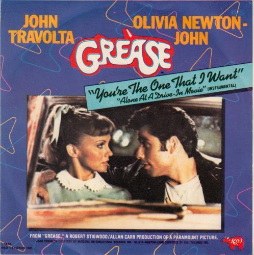 "Olivia Newton John You're The One That I Want - P/S 7"" vinyl single (7 inch record) Italian ONJ07YO648885"