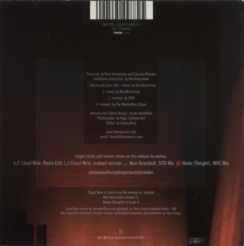 "OneTwo Cloud Nine CD single (CD5 / 5"") UK ON2C5CL390319"