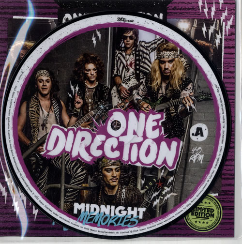 """One Direction Midnight Memories - RSD 7"""" vinyl picture disc 7 inch picture disc single UK OO57PMI602699"""