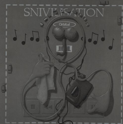 Orbital Snivilisation + Art Print 2-LP vinyl record set (Double Album) UK ORT2LSN232405