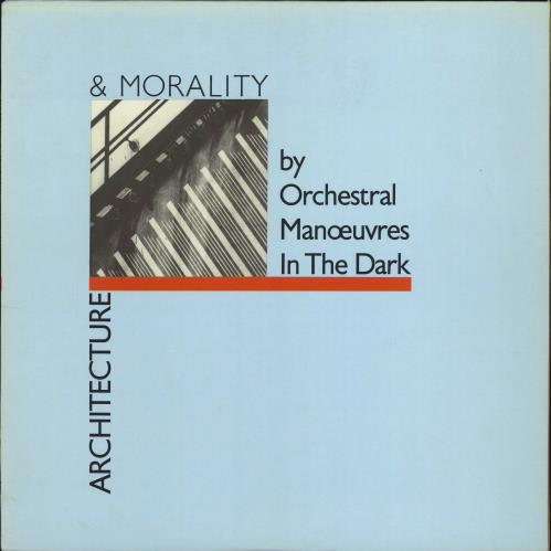 Orchestral Manoeuvres In The Dark Architecture & Morality - Blue Die-Cut vinyl LP album (LP record) UK OMDLPAR77000