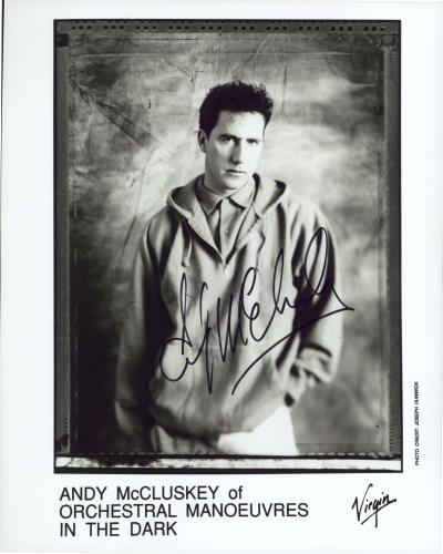 Orchestral Manoeuvres In The Dark Autographed Andy McClusky Publicity Photograph photograph UK OMDPHAU770081