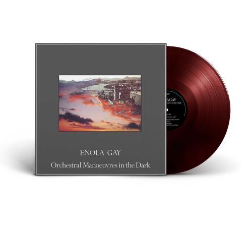 "Orchestral Manoeuvres In The Dark Enola Gay - Oxblood Coloured Vinyl - Sealed 12"" vinyl single (12 inch record / Maxi-single) UK OMD12EN757635"