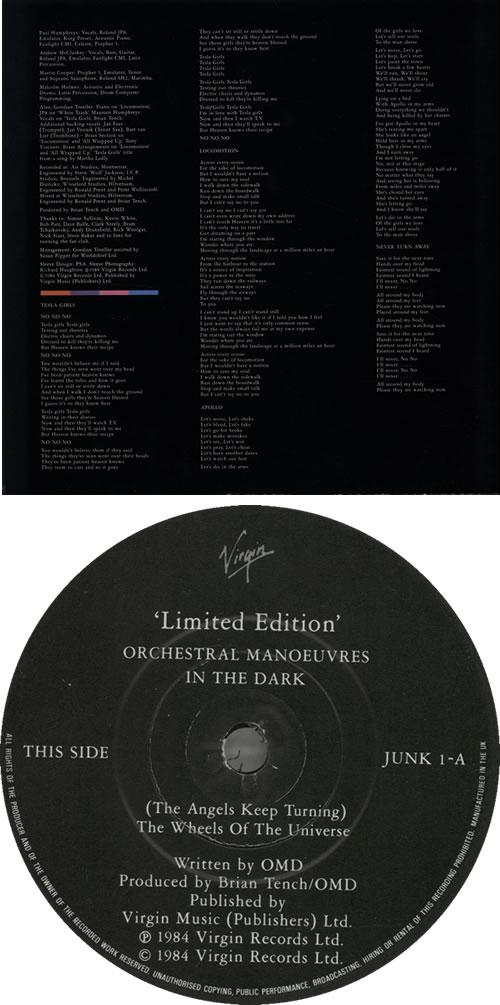 "Orchestral Manoeuvres In The Dark Junk Culture + 7"" vinyl LP album (LP record) UK OMDLPJU397930"