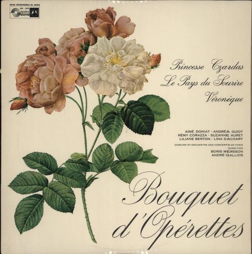 Orchestre De Paris Bouquet D'Operettes vinyl LP album (LP record) French 20GLPBO766734