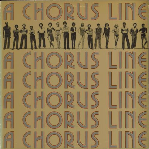 Original Cast Recording A Chorus Line vinyl LP album (LP record) UK 1OCLPAC491870