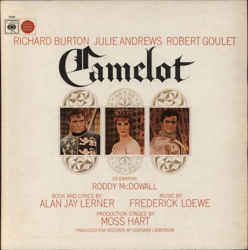 Original Cast Recording Camelot vinyl LP album (LP record) UK 1OCLPCA669115